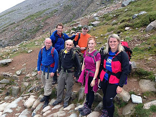 People on Ben Nevis path