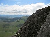 People on Curved ridge, Glen Coe