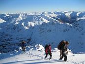 People in Glen Coe in winter