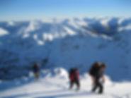 Winter walking in Glen Coe
