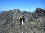 People on the Skye ridge