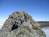 People mountaineering on Ben Nevis