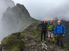 Guided Aonach Eagach traverse, Glencoe