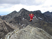 Person on the Skye ridge