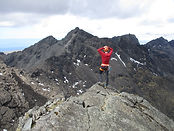 view of Skye cuillin ridge