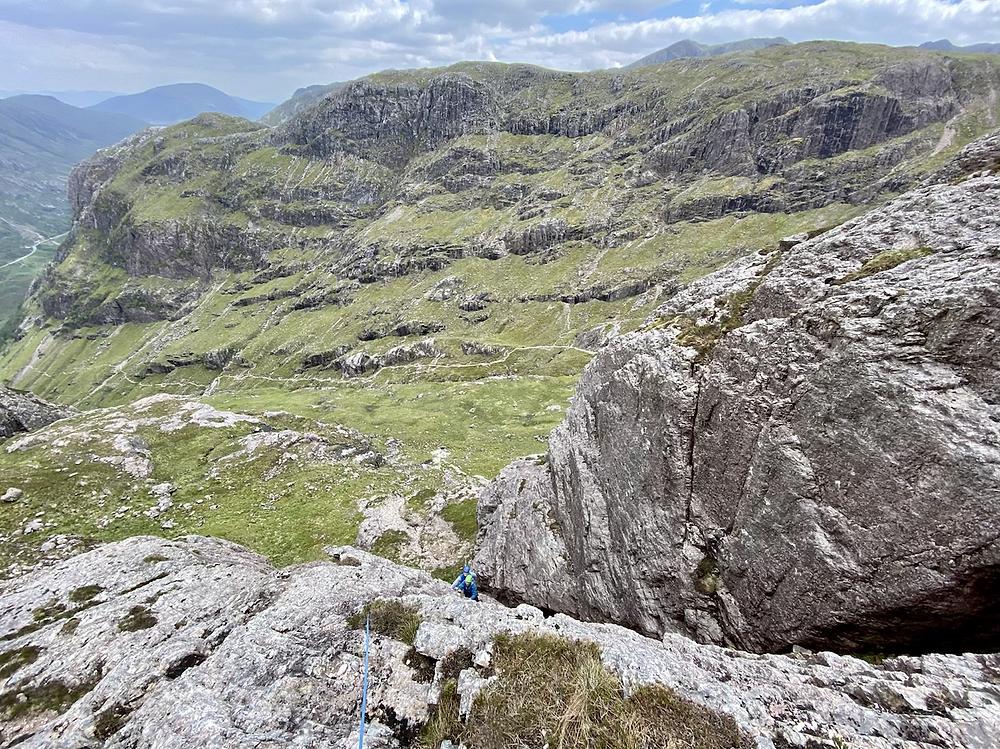 Glencoe climbing, Farewell arete, Far Eastern Buttress.