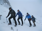 People on Ben Nevis in winter