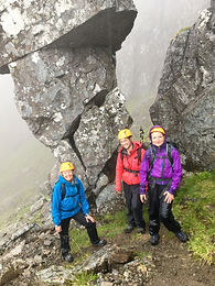 Guided group on Ledge Route, Ben Nevis