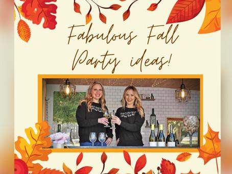 Fabulous Fall Party Ideas!
