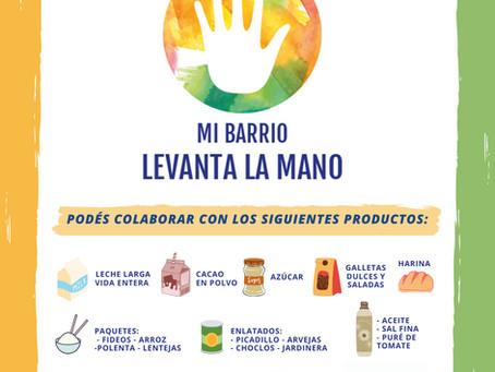 """Proyecto """"Mi barrio levanta la mano"""" ¡Sumate a la campaña!"""
