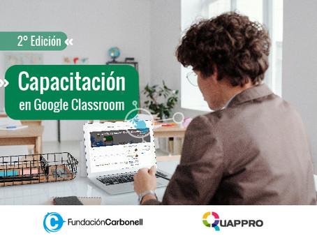 Registro 2° edición de Google Classroom: repensar la escuela