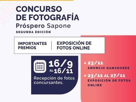 """Participá del Concurso de Fotografía """"Próspero Sapone"""" 2020"""