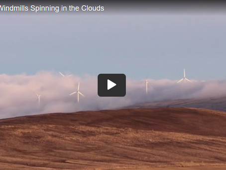 Windmills Spinning in the Clouds - Beautiful!