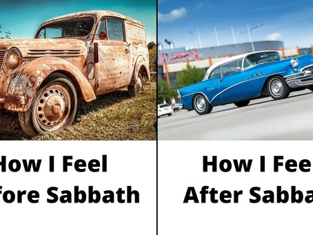 How I Feel Before And After Sabbath