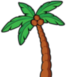 the tilted tiki palm tree