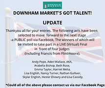 DOWNHAM MARKET'S GOT TALENT - UPDATE!