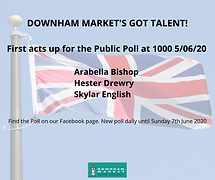 THIRD DOWNHAM MARKET'S GOT TALENT POLL LIVE FROM 10 AM TODAY!