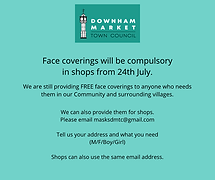 FACE COVERINGS COMPULSORY IN SHOPS 24th JULY