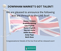 Downham Market's Got Talent!  The acts in the Live final