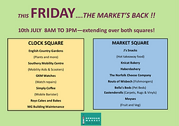 THE FRIDAY MARKET - BIGGER AND BETTER