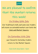 THE MARKET RETURNS THIS FRIDAY!