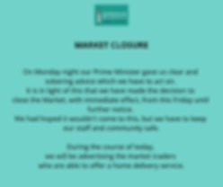 Market Closure Notice
