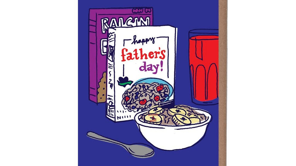 Father's Day Card   Scratch and Sniff Cereal