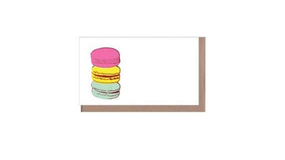 Greeting Card Set of 6   Macaroons • Blank Inside
