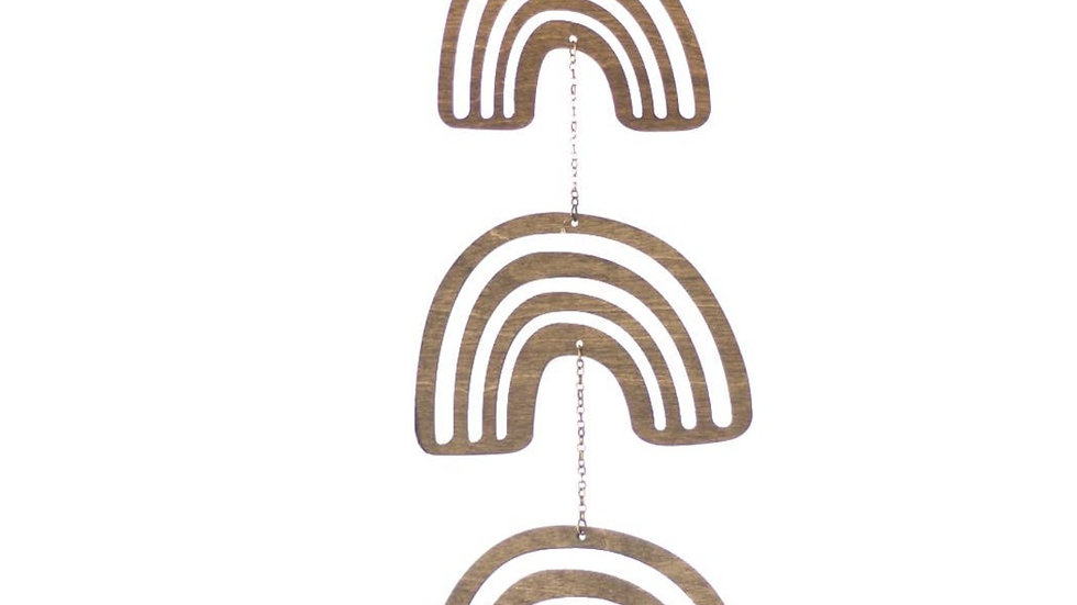 Laser Cut Wood Wall Hanging • Mobile   Rainbow
