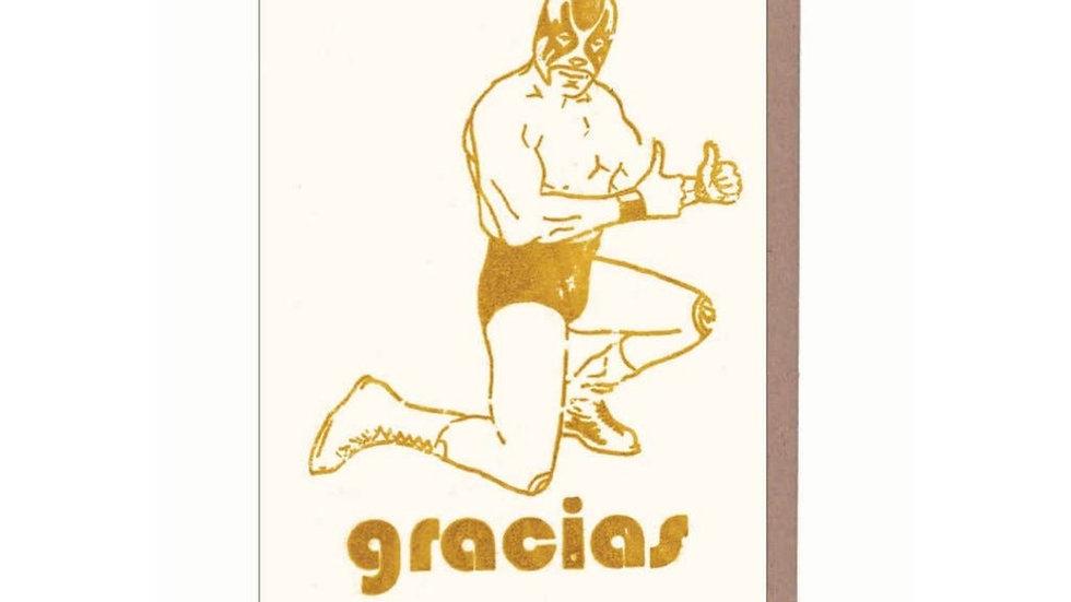 Thank You Card   Luchador Gracias