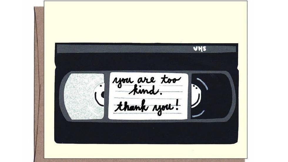 Thank You Card | Retro VHS Throwback