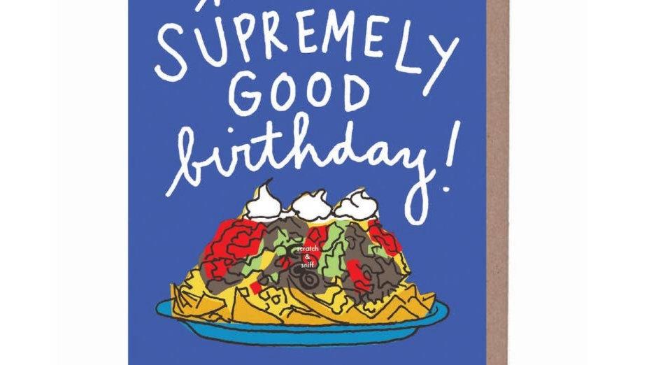 Birthday Card   Scratch and Sniff Nachos