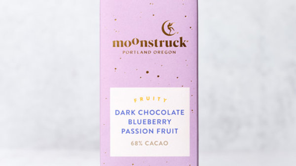 Dark Chocolate Blueberry Passion Fruit Chocolate Bar • by Moonstruck 🌕