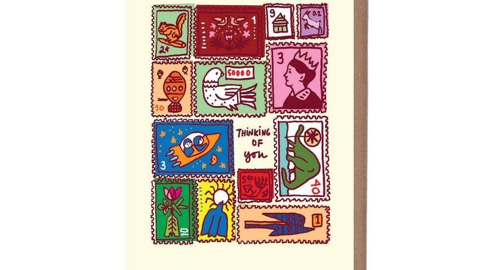 Greeting Card   Vintage Postage