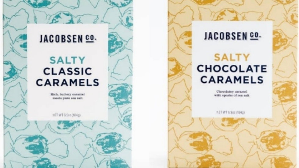 Salty Caramels Duo | Caramel + Chocolate Caramel by Jacobsen Salt Co.
