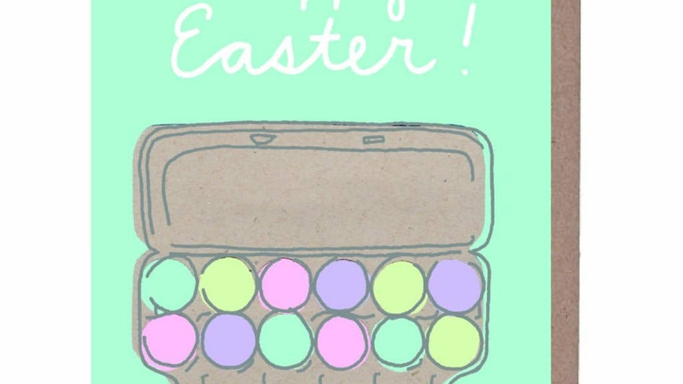 Easter Card | Colored Eggs