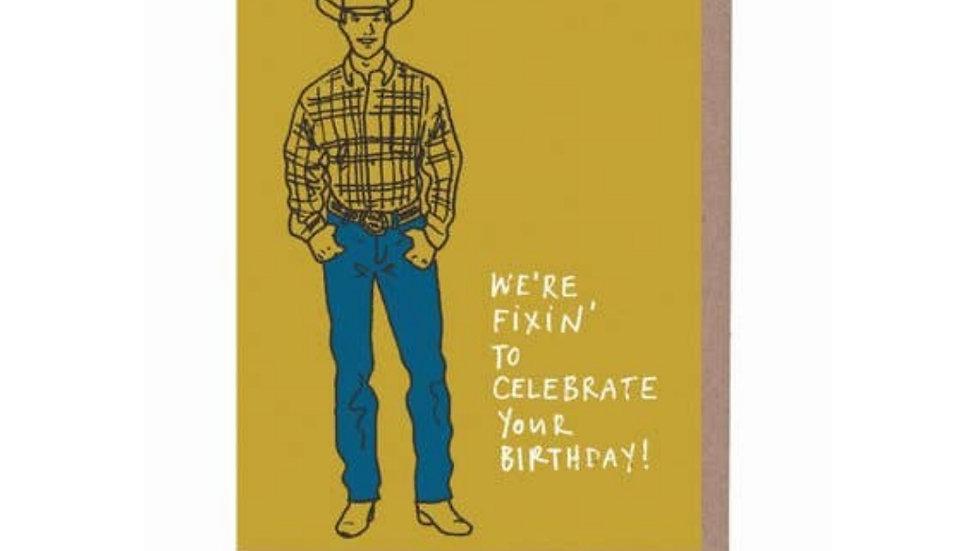 Greeting Card   Birthday • Cowboy