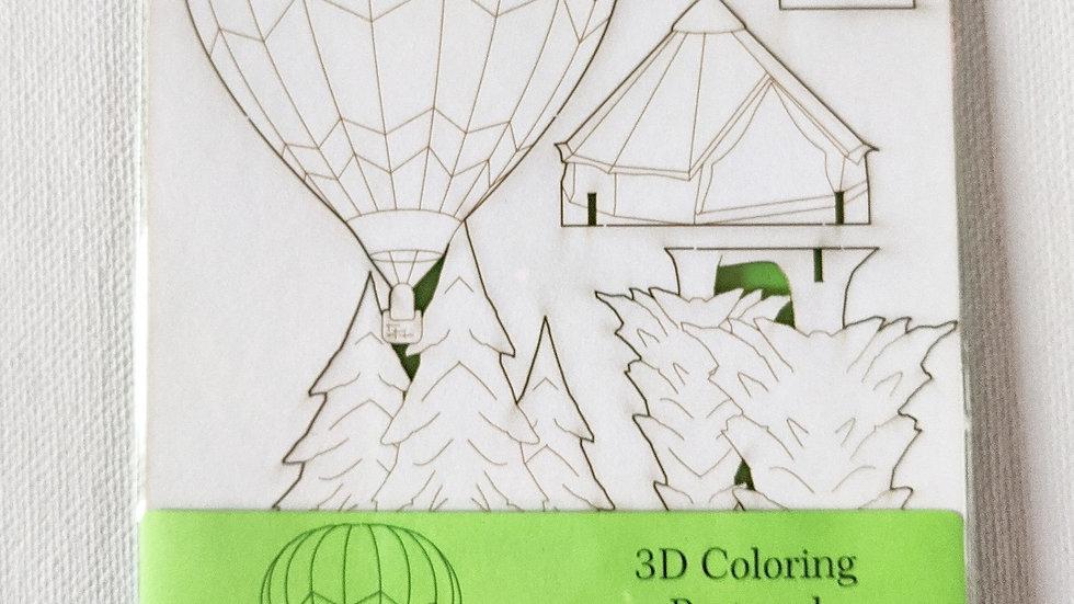 3D Pop Out Postcard   Hot Air Balloon