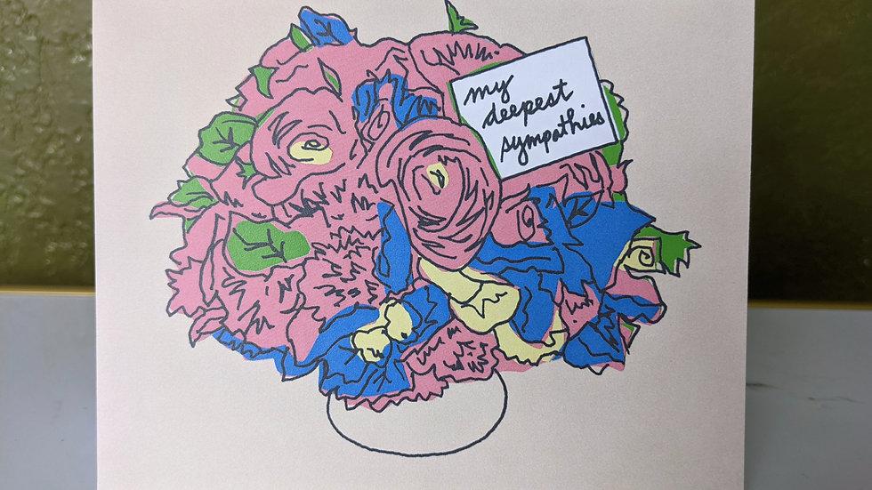 Greeting Card | Sympathy • Floral bouquet