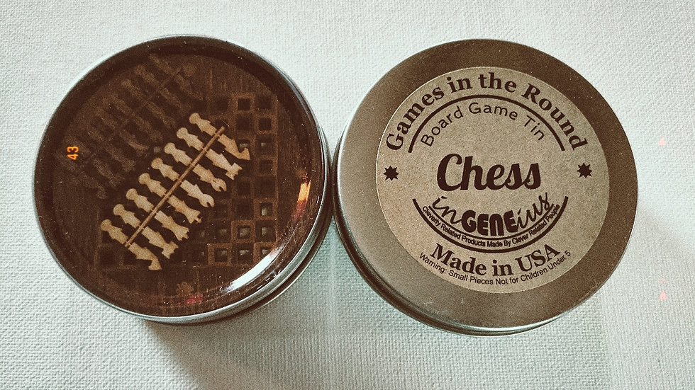 Games | Wooden Chess in a Tin