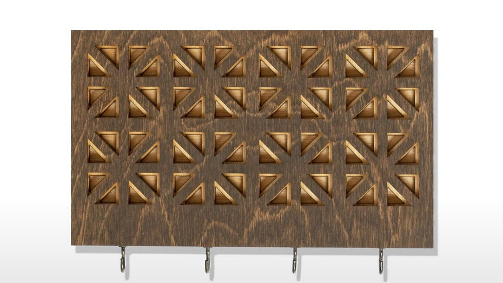 Deco Wood Wall Hanger with Hooks