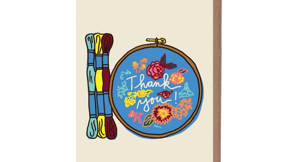 Greeting Card   Thank You • Needlepoint