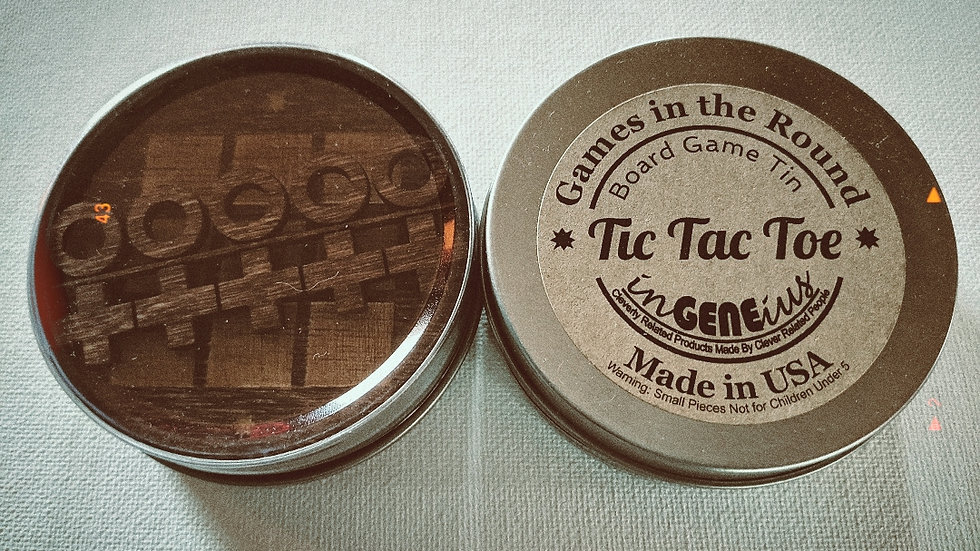 Games | Wooden Tic Tac Toe in a Tin