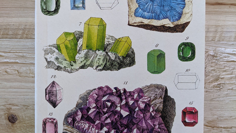 Mini Notebook • Mineralogy Lined Paper