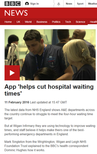 A&E featured by the BBC.