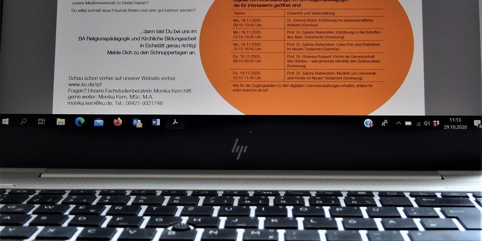 Digitale Schnuppertage der Katholischen Universität Eichstätt-Ingolstadt
