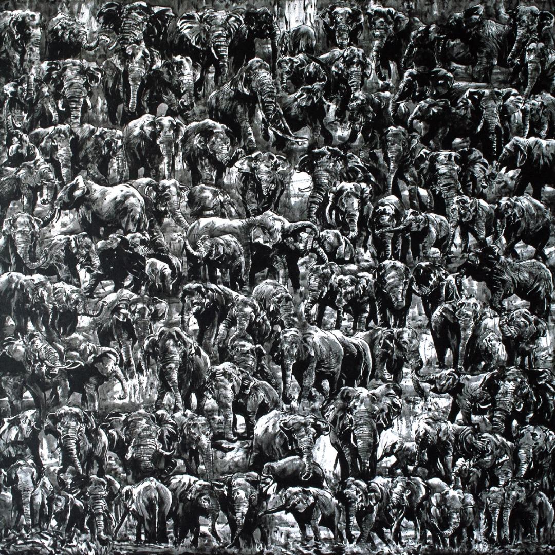 100 Elephants (Elephants are so Noir)