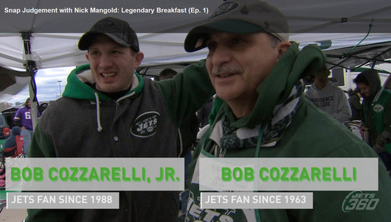 """Robert Cozzarelli Appears on Jets 360's """"Snap Judgement with Nick Mangold: Legendary Breakf"""