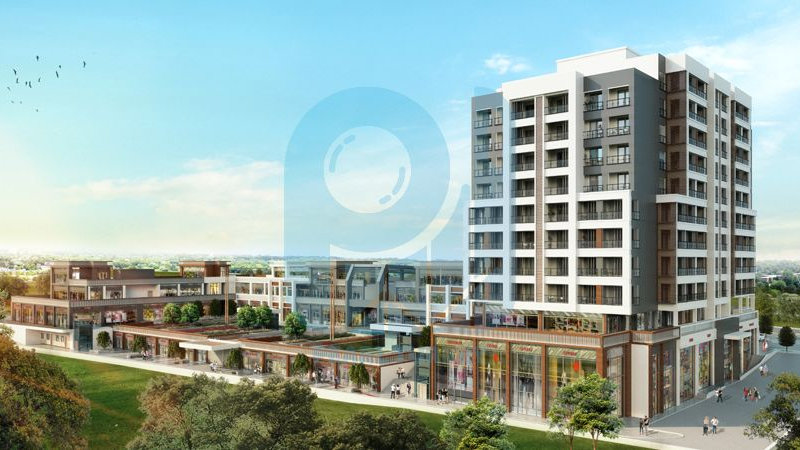 New apartments and shops in modern new project sale in Istanbul