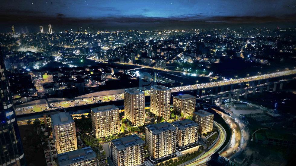 مجمع سكني لشقق للبيع في اسطنبول يقع في المركز التجاري للمدينة في منطقة مسلك